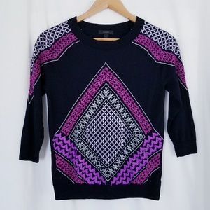 J. Crew Tippi Sweater in Morrocan Embroidered Tile